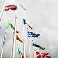 European flags with Greek flag in the centre Stock Image