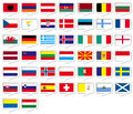 European flags set for web and print use Royalty Free Stock Photo