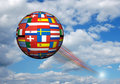 European flags sphere Stock Image
