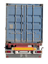 European flatbed 18-wheeler Stock Photo