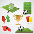 European football design elements Stock Photos