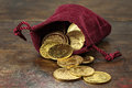 European gold coins Royalty Free Stock Photo