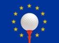 European golf Royalty Free Stock Photo