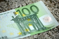 European hundred euros close up of Stock Image