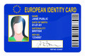 European Identity card Royalty Free Stock Photo