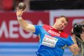 European indoor athletics championship gothenburg sweden march aleksandr bulanov russia places th in the men s shot put final Stock Images