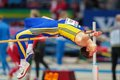 European indoor athletics championship gothenburg sweden march alexandru tufa romania competes in the qualification of the men s Stock Image