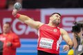 European indoor athletics championship gothenburg sweden march asmir kolasnic serbia wins the men s shot put final during the on Stock Images