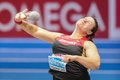 European indoor athletics championship gothenburg sweden march christina schwanitz germany wins the women s shot put finals during Royalty Free Stock Photo