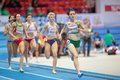 European indoor athletics championship gothenburg sweden march ciara everard ireland st wins heat of the qualification of the Royalty Free Stock Photography