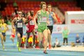 European indoor athletics championship gothenburg sweden march ciaran o lionaird ireland wins heat of the men s m event during the Stock Photo