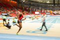 European indoor athletics championship gothenburg sweden march hayle ibrahimov azerbaijan wins heat of the qualification of the Stock Images