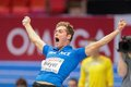 European indoor athletics championship gothenburg sweden march kevin mayer france wins the men s pentathlon shot put event during Royalty Free Stock Image