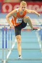 European indoor athletics championship gothenburg sweden march koen smet netherlands places th heat of the qualification of the Stock Photo