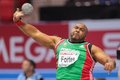 European indoor athletics championship gothenburg sweden march marco fortes portugal places th in the men s shot put final during Stock Photography