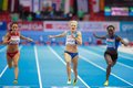 European indoor athletics championship gothenburg sweden march mariya ryemyen bulgaria places seond in the women s m finals during Royalty Free Stock Image