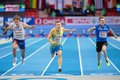 European indoor athletics championship gothenburg sweden march petter olson sweden places nd in the men s m pentathlon event Royalty Free Stock Photo