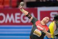 European indoor athletics championship gothenburg sweden march ralf bartels germany places th in the men s shot put final during Stock Photography