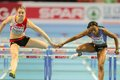 European indoor athletics championship gothenburg sweden march reina flor okori france places th in heat of the women s m hurdles Stock Image