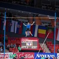 European indoor athletics championship gothenburg sweden march renaud lavillenie france wins the men s pole vault finals during Stock Photos