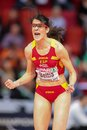 European indoor athletics championship gothenburg sweden march ruth beitia spain wins the women s high jump finals during the on Royalty Free Stock Photo