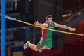 European indoor athletics championship gothenburg sweden march tiago marto portugal places th in the men s pentathlon pole vault Stock Images