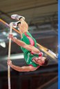 European indoor athletics championship gothenburg sweden march tiago marto portugal places th in the men s pentathlon pole vault Royalty Free Stock Image
