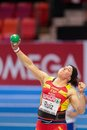 European indoor athletics championship gothenburg sweden march ursula ruiz spain places th in the women s shot put finals during Stock Image