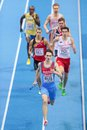 European indoor athletics championship gothenburg sweden march yury trambovetsky russia and his team place nd in the men s x m Stock Photography