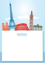 European Landmarks Background