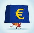 European on monetary crisis Royalty Free Stock Photo