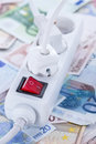 European money Energy concept Royalty Free Stock Photo
