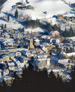 European old city near the mountain at winter Stock Photography
