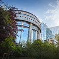 European parliament brussels belgium view from a park Royalty Free Stock Photography