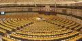 European Parliament chamber Royalty Free Stock Photo