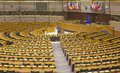 The European Parliament hemicycle Royalty Free Stock Photo