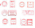 European postage meters  Stock Photography