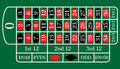 European Roulette Table vector illustration