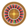 European roulette wheel vector.