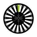 European roulette on white background