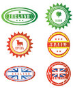 European rubber stamps Stock Images