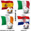 European Soccer - Group C Royalty Free Stock Images
