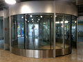 European Station Revolving Door Royalty Free Stock Photo