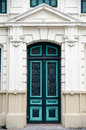 European style door vietnam at hanoi Royalty Free Stock Photos