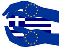 European support for Greece Royalty Free Stock Image
