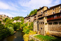 European town rupit spain residence houses of old Royalty Free Stock Photography