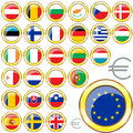 European Union buttons Royalty Free Stock Images