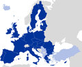 European Union Countries Political Map Silhouette Royalty Free Stock Photo