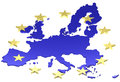 European union d graphic white background Royalty Free Stock Photos