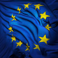 The European Union flag, fluttering Royalty Free Stock Images